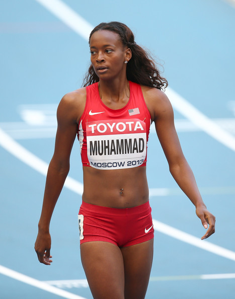 Dalilah Muhammad at the 14th IAAF World Athletics Championships in Moscow